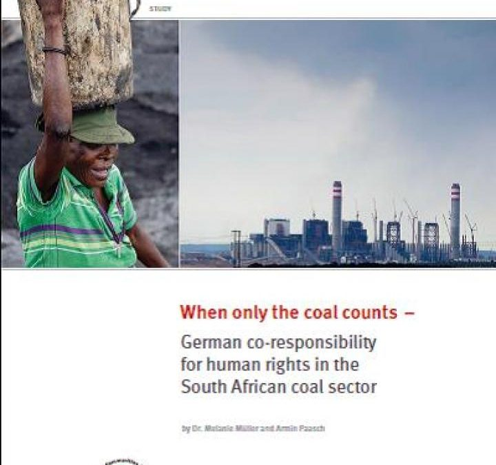 When only coal counts: German co-responsibility for human rights in the South African coal sector